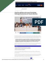 Impulsa gobierno de Laura Fernández liderazgo de jóvenes en Puerto Morelos – Palco Noticias