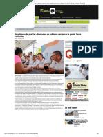 Un gobierno de puertas abiertas es un gobierno cercano a la gente_ Laura Fernández - Revista Fusión Q