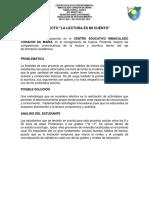 Proyecto de Lectura y Escritura Bahia Cupica