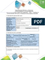 Guía de Actividades y Rúbrica de Evaluación - Fase 1 - Realizar El Reconocimiento Del Curso e Instalación Del Programa AutoCAD