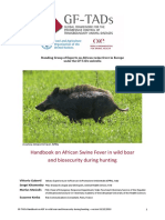 HANDBOOK  OF AFRICAN SWINE FEVER IN WILD BOAR