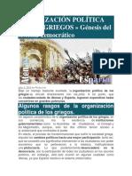 Organización Política y Social de Los Griegos