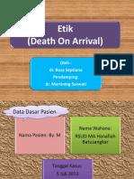 Slide Etik DOA