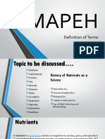 MAPEH REPORT Definition of Terms