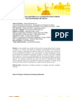 Cantaria - Iniciação Científica e a Extensão nos cursos de Engenharia de Minas