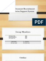 Employment Recruitment Decision Support System