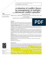 A Re-evaluation of Conflict Theory for the Management of Multiple, Simultaneous Conflict Episodes