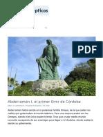 Abderramán I, El Primer Emir de Córdoba - Narcolépticos