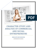 Character Study and Analysis of Commercial and Social Entrepreneurs