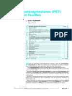 Polyéthylènetéréphtalates (PET) pour  lms et feuilles