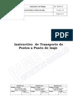 I-03-002 82 INSTRUCTIVO Transporte de Postes a Punto de Izaje