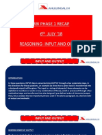 RBI Phase 1 Recap 6 July 18 Reasoning Input Output