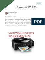 WA 0823-2825-2370 Sewa Printer Purwokerto