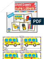 Freebees Prin Tables Back to School Picture Labels Organization