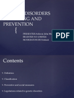 Genetic Disorders Screening and Prevention