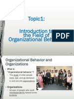 Topic 1 Introduction to the Field of OB