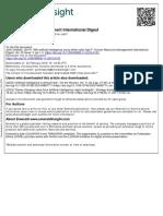 Human Resource Management International Digest