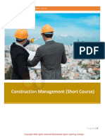 Construction MGMNT Short Course