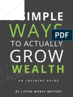8 Simple Ways to Actually Grow Wealth Book
