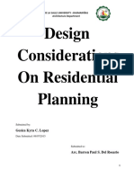 Design Considerations on Residential Planning