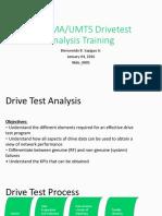 WCDMA Drivetest Analysis_2016