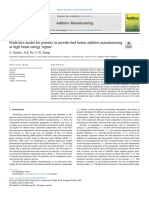 Predictive Model for Porosity in Powder-bed Fusion Additive Manufacturing