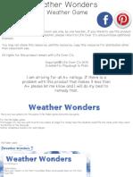 Weather Wonders - manualidad