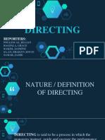 E4 Directing