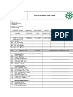 Crane Monthly Inspection Form