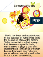 Elements of Music - Ppt Overview
