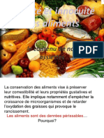 Th2 Ch2 La Conservation Des Aliments 2015