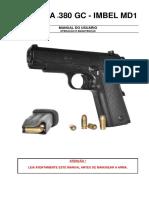 Manual Pistola imbel .380 GC MD1