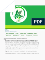 International Journal of Agriculture, Environment and Bioresearch222