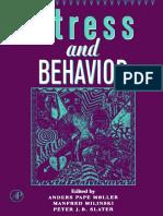 (Advances in the Study of Behavior 27) Anders Pape Møller, Manfred Milinski and Peter J.B. Slater (Eds.) - Stress and Behavior-Elsevier, Academic Press (1998)