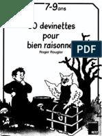50 Devinettes Pour Bien Raisonner 7-9 Ans (Retz)