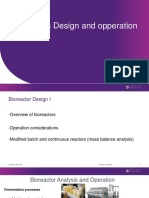 Lecture 16-17 - Bioreactor Design and Operation I and II