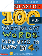 100 Vocabulary Words Kids Need to Know 4th