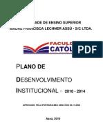 Pdi - Plano de to Institucional 2010