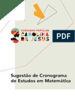 Cronograma de Estudos 2020 Matemática