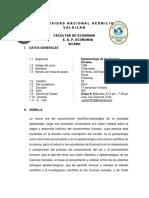 Silabo Epistemologia Grupo II - Ok