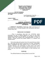Judicial Affidavit Geodetic Engineer