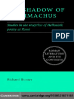 Richard Hunter The Shadow of Callimachus Studies in the reception of Hellenistic poetry at Rome .pdf