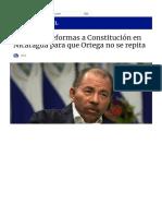 Proponen reformar la Constitución en Nicaragua para que Ortega regrese 2
