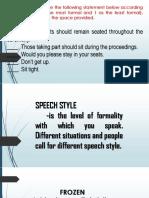 Speech Styles