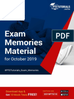 Free PTE-A Exam Memories Material October - 2019