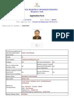 Isro Application form example