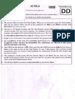 NEET Code DD Question Paper 1
