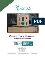 Avocet Manual 2