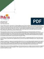 Pekin letterhead
