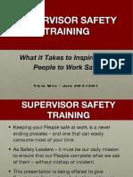 supervisor safety training